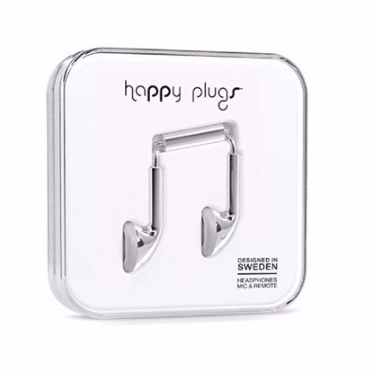 Picture of Trade Happy Plugs Deluxe Earbud Wired Earphones in Silver