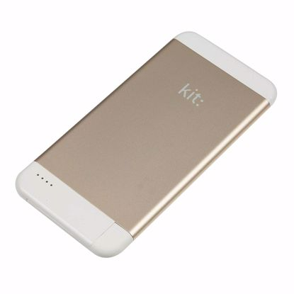 Picture of Kit Kit Executive 4100mAh Powerbank with Mfi Apple Lightning Cable in Gold