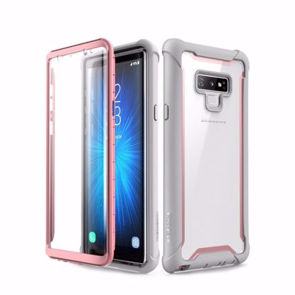 Picture of i-Blason i-Blason Ares Clear Case with Screen Protector for Samsung Galaxy Note 9 in Pink
