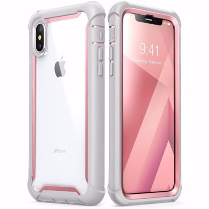 Picture of i-Blason i-Blason Ares Clear Case with Screen Protector for Apple iPhone XS Max in Pink