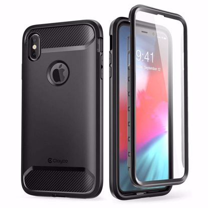 Picture of Clayco Clayco Xenon Full Body Case with Screen Protector for Apple iPhone XS Max in Black