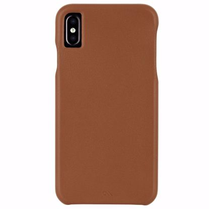 Picture of Case-Mate Case-Mate Barely There Leather Case for Apple iPhone XS/X in Butterscotch