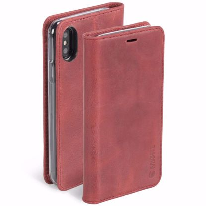 Picture of Krusell Krusell Sunne 4 Card Folio Case for Apple iPhone XS/X in Red