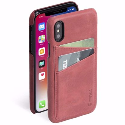 Picture of Krusell Krusell Sunne 2 Card Cover Case for Apple iPhone XS/X in Red