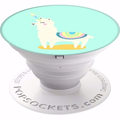 Picture of Popsockets PopSockets PopGrip for Smartphones and Tablets in Llamacorn