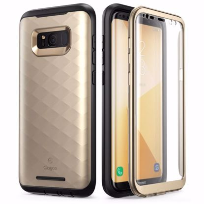 Picture of Clayco Clayco Hera Case with Built-In Screen Protector for Samsung Galaxy S8 in Gold