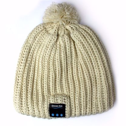Picture of Dream-Hat Dream-Hat Bluetooth Beanie Hat in Cream