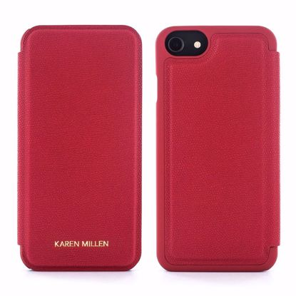 Picture of Karen Millen Karen Millen Leather Folio Case for Apple iPhone 8 in Red