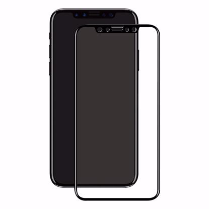 Picture of Eiger Eiger 3D GLASS Full Screen Tempered Glass Screen Protector for Apple iPhone XS/X in Clear/Black