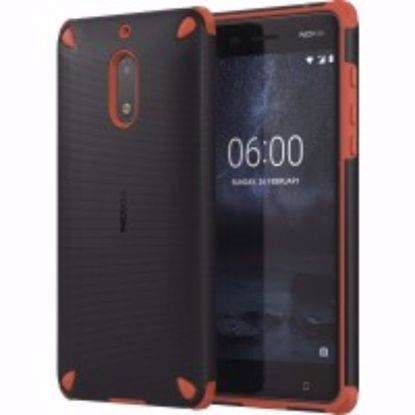 Picture of Nokia Nokia CC-501 Rugged Impact Case for Nokia 6 in Orange/Black