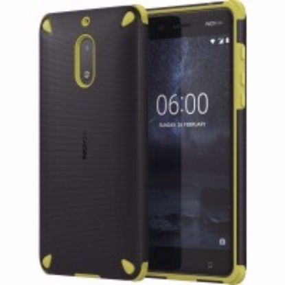 Picture of Nokia Nokia CC-501 Rugged Impact Case for Nokia 6 in Lemon/Black