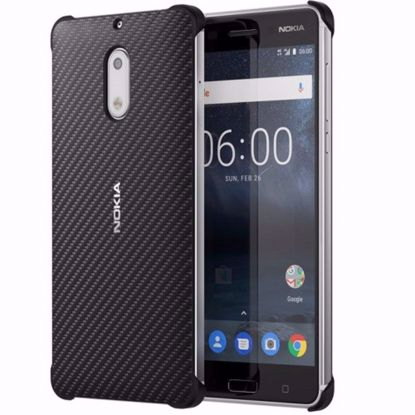 Picture of Nokia Nokia CC-802 Carbon Fibre Case for Nokia 6 in Black
