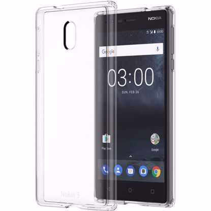 Picture of Nokia Nokia CC-705 Hybrid Crystal Case for Nokia 3 in Clear