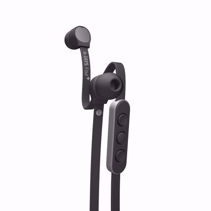 Picture of JAYS a-JAYS Four+ In-Ear Earphones with Mic for iOS Devices in Black/Silver