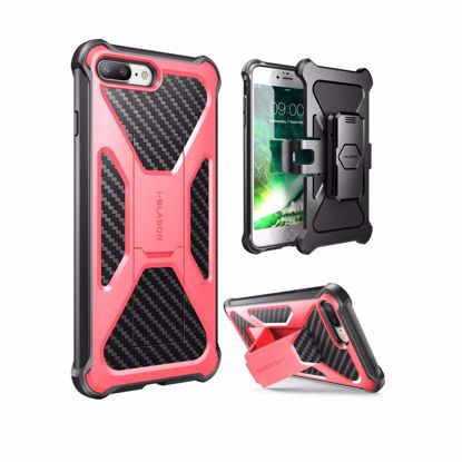 Picture of i-Blason i-Blason Transformer Holster Case for Apple iPhone 7 in Pink