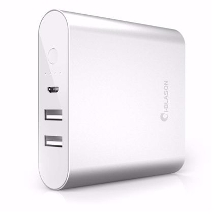 Picture of i-Blason i-Blason Aero 10,400mAh Dual Port External Battery Portable USB Charger in Silver