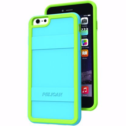 Picture of Pelican Pelican Protector Case for Apple iPhone 6+/6s+ in Teal/Lime Green
