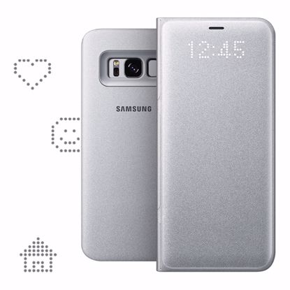 Picture of Samsung Samsung LED View Case for Samsung Galaxy S8 in Silver