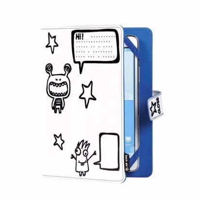Picture of techair techair Kiddie Folio Tablet Case for 7 inch Tablets in Monsters Print