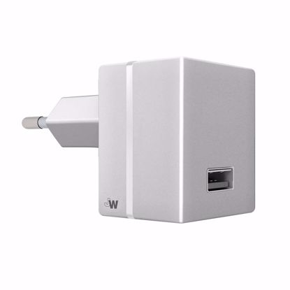 Picture of Just Wireless Just Wireless 2.4A EU Mains Charger (No Cable) in Silver