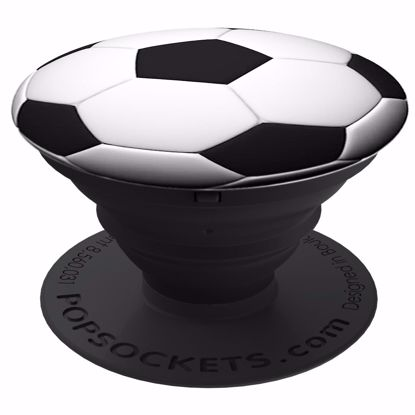 Picture of Popsockets PopSockets Expanding Grip and Stand for Smartphones and Tablets in Soccer Ball