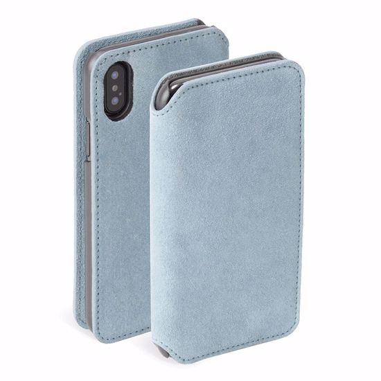Picture of Krusell Krusell Broby 4 Card Slim Wallet for iPhone XS Max in Blue