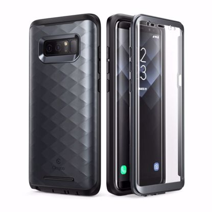 Picture of Clayco Clayco Hera Case with Built-In Screen Protector for Samsung Galaxy Note 8 in Black